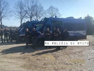 Polizia sgombera rave party abusivo a Giove 100 agenti impegnati