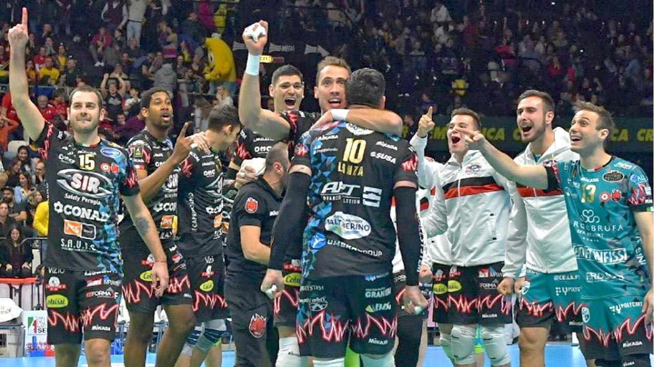 Coppa Italia Sir volley affonda Modena (3-0) finale con Lube Civitanova