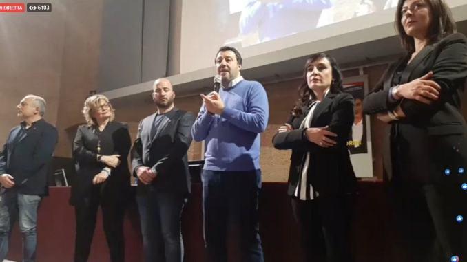 Suppletive, Matteo Salvini a Orvieto a sostegno candidatura Alessandrini