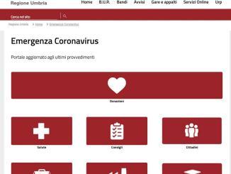 Online sul sito Regione nuova sezione dedicata al Coronavirus