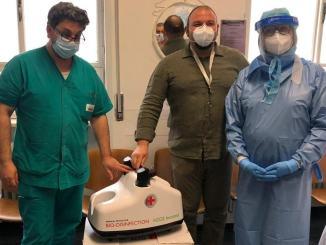 Altre donazioni all'azienda ospedaliera di Terni, anche un apparecchio per sanificazione