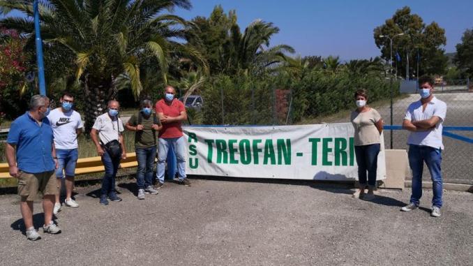 I lavoratori della Treofan manifestano in piazza a Terni e Perugia