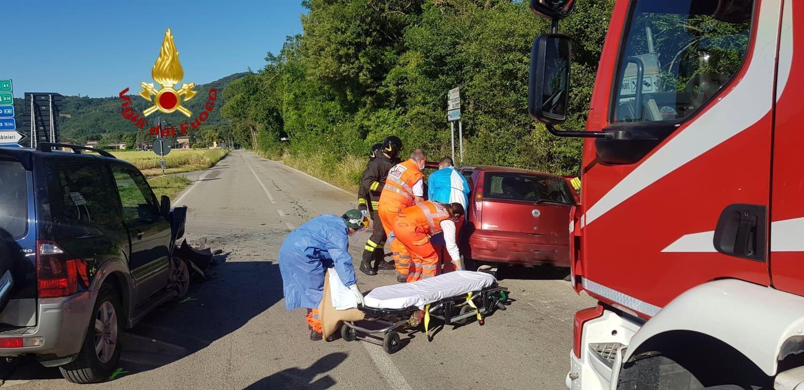 Due incidenti, uno con feriti, a Ponte Pattoli e sulla via Pievaiola 🔴▶ Foto
