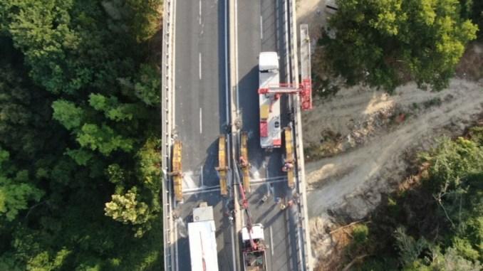 Viadotto Montoro, iniziata la fase di spinta della pila