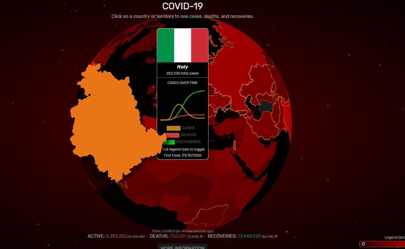 44 positivi in più al coronavirus in Umbria in una settimana, 8 in più di ieri