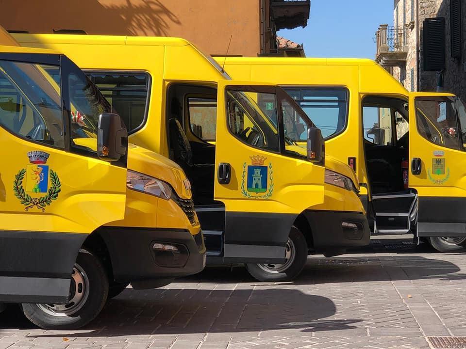 Alto Orvietano, 5 nuovi scuolabus a metano per Monteleone Orvieto, Montegabbione, Parrano