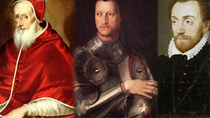 L'Arringatore e l'eretico fiorentino bruciato sul rogo dall'Inquisizione