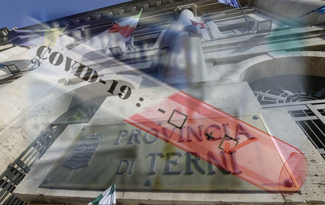 Dipendente Provincia Terni, positivo a covid chiusi uffici scatta sanificazione per intero ente