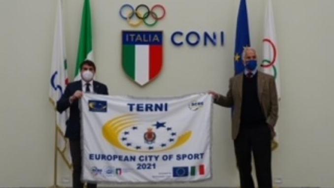 Terni città europea dello sport: c'è anche la bandiera