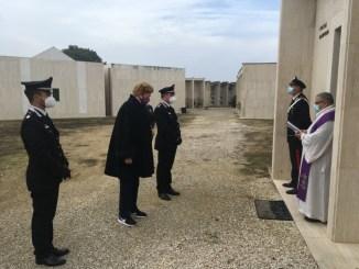 Perugia, 12 novembre 2020, commemorazione del Carabiniere Angelo Foccià