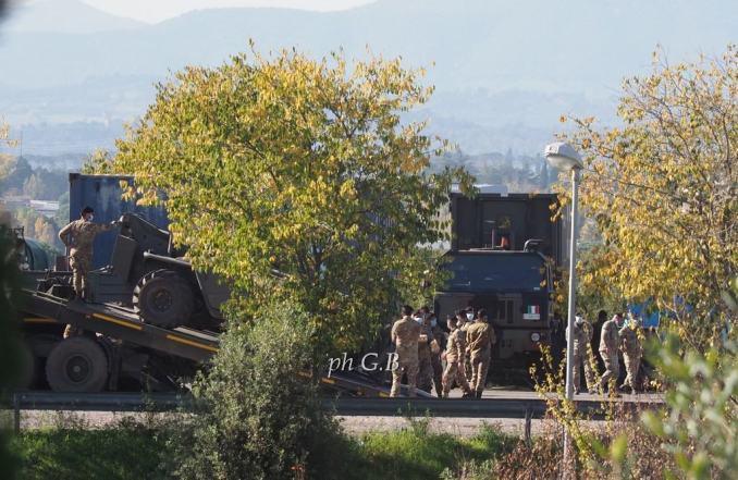 Covid Umbria, arrivato a Perugia ospedale da campo dell'Esercito