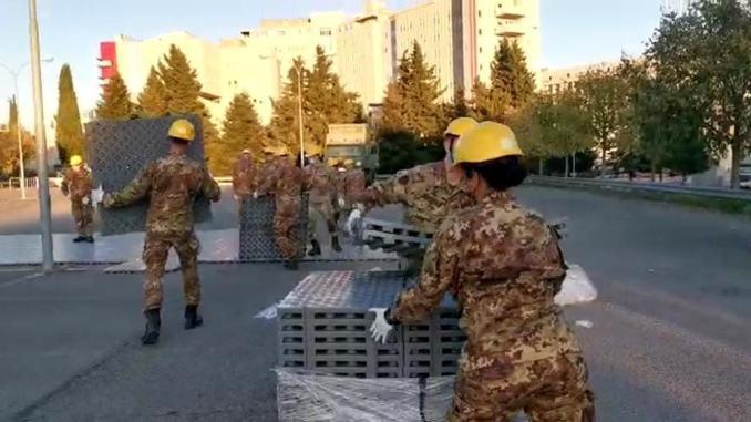 Ospedale da campo Esercito per posti letto Covid pronto mercoledì