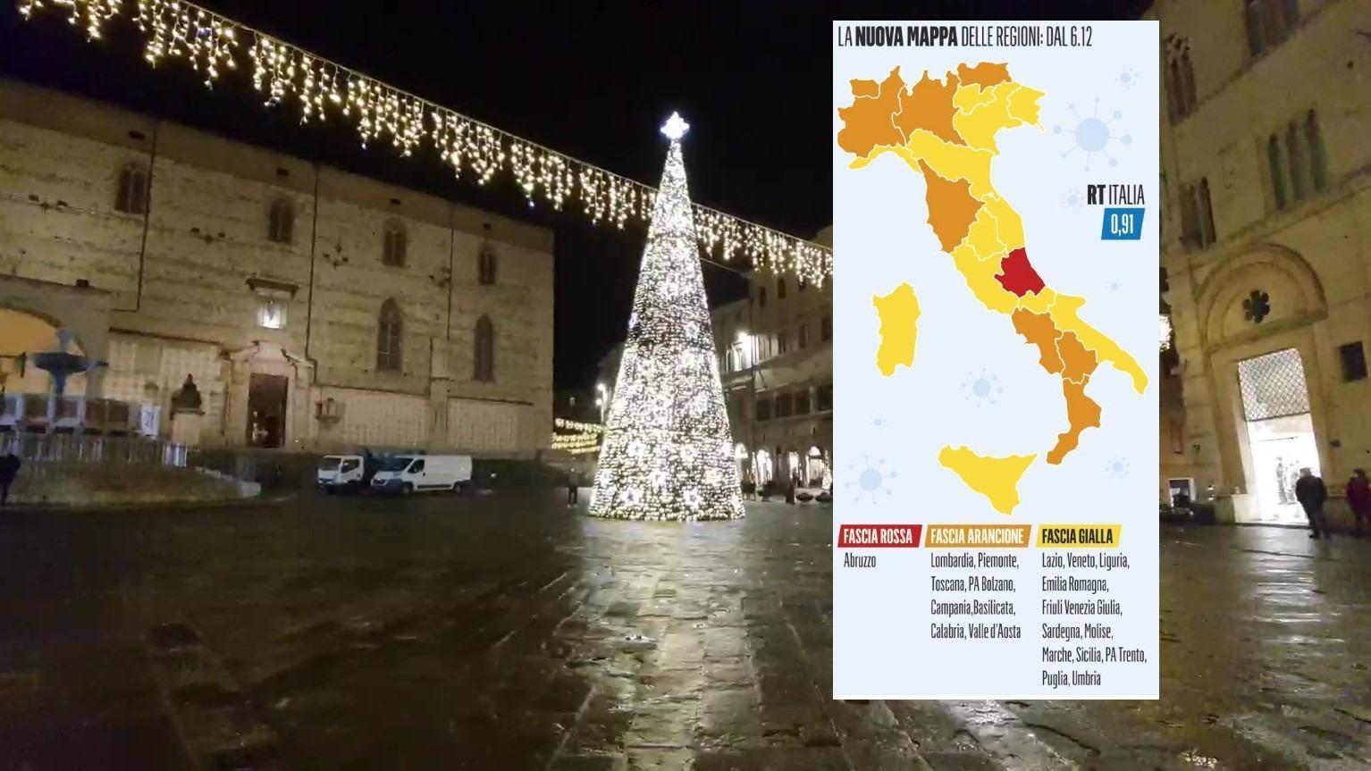 Umbria sarà regione gialla da domenica, ecco cosa cambierà