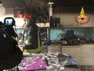 Incendio in appartamento a Ferro di Cavallo di Perugia