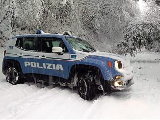 Neve e gelo per l'arrivo di Burian: grande impegno della Polizia di Stato