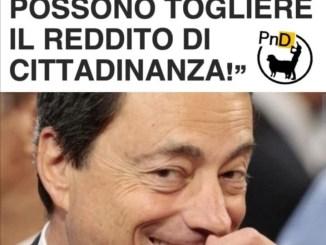 Reddito di cittadinanza ha fatto discutere, #famosedurisate, ora c'è Draghi