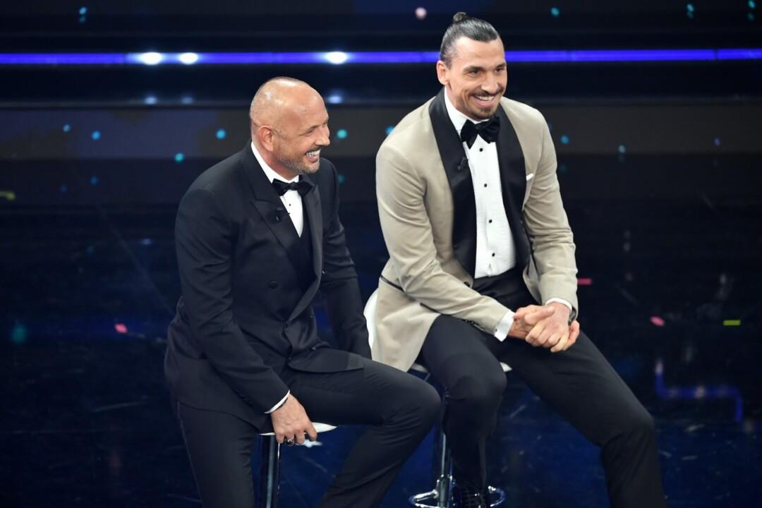 Il giocatore Zlatan Ibrahimovic indossa a Sanremo gli abiti di Brunello Cucinelli