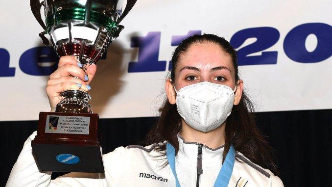 Vally Giovannelli e' campionessa d'Italia di sciabola