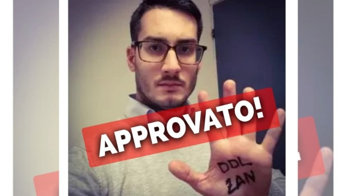 """Luca Tramini (M5S Narni): """"Narni approva il DDL Zan!"""