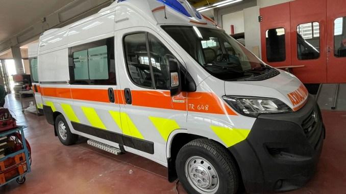 Ambulanza super equipaggiata donata, dalla Fondazione Cassa Risparmio, all'ospedale di Orvieto