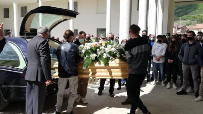 Esplosione Gubbio, i funerali del giovane Samuel Cuffaro