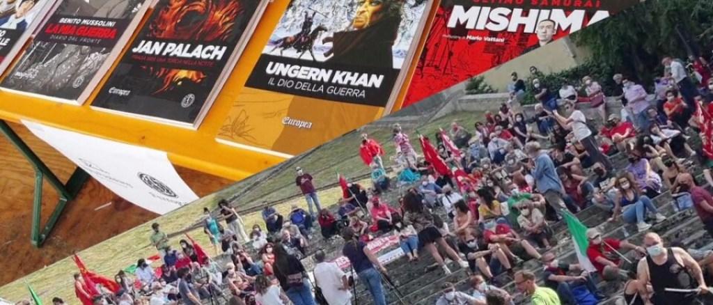 Al via a Todi il Festival ''Città del Libro'', ma scatta il sit-in antifascista 📸🔴 FOTO E VIDEO