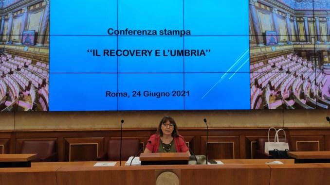 Recovery, sen. Fiammetta Modena (FI), in conferenza stampa a Roma