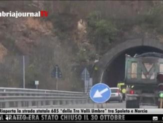 """Riaperta la strada statale 685 """"delle Tre Valli Umbre"""" tra Spoleto e Norcia"""