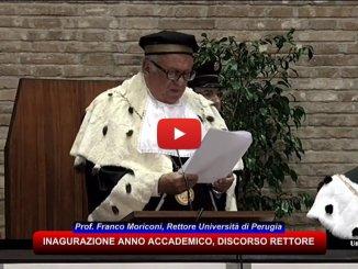 Università di Perugia, relazione inaugurale del magnifico Rettore, Franco Moriconi