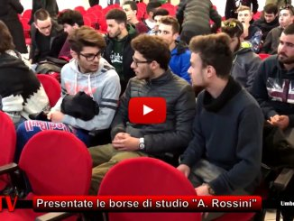 """Terni, il mondo del lavoro vicino alla scuola, la borsa di studio """"A. Rossini"""""""