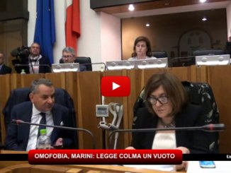 Umbria, Legge contro Omofobia, Marini: legge colma un vuoto