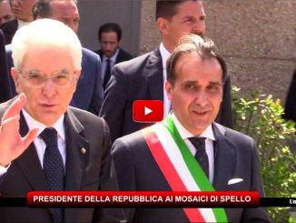 Sergio Mattarella a Spello ha visitato i mosaici della Villa Romana