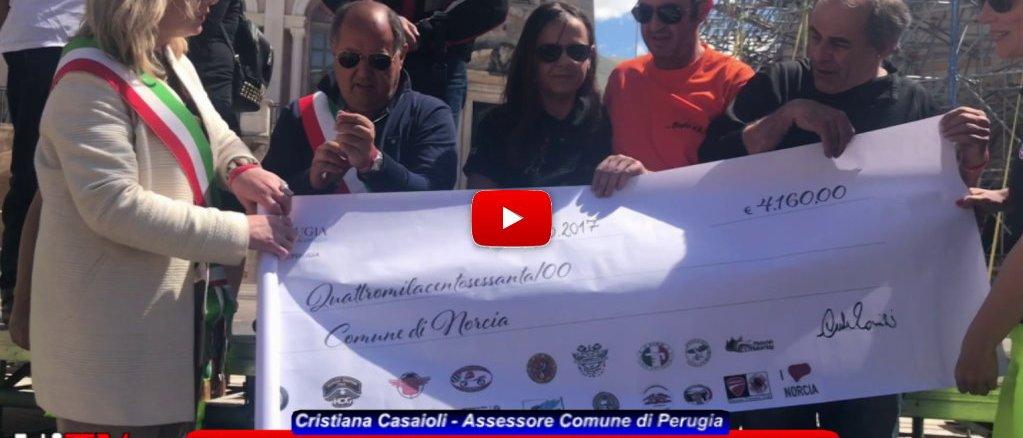 Umbria in moto, consegnati a Norcia i fondi raccolti