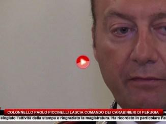 Carabinieri, colonnello Paolo Piccinelli lascia il comando provinciale di Perugia