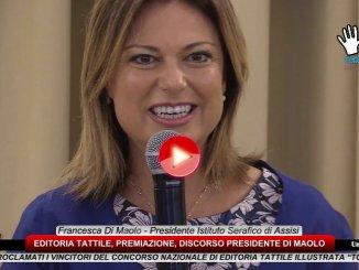 Editoria Tattile, premiati libri vincitori discorso presidente Di Maolo