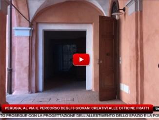 Perugia, al via oggi il percorso degli 8 giovani creativi alle Officine Fratti
