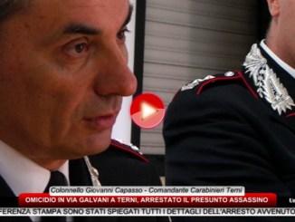 Omicidio a Terni, la dichiarazione del colonnello Giovanni Capasso