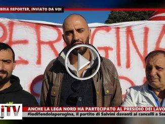IoDifendoLaPerugina, Lega Nord davanti ai cancelli fabbrica di San Sisto