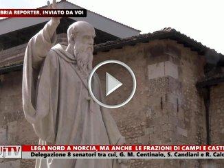 Senatori della Lega in visita in Valnerina, a Norcia, Campi e Castelluccio