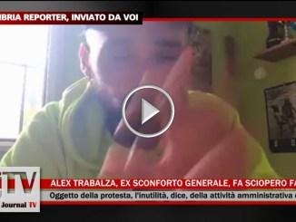 Assisi, Alex Trabalza fondatore dello Sconforto Generale inizia sciopero fame