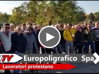 I lavoratori dell'Europoligrafico protestano, si preannunciano scioperi