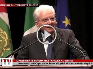 Assisi, Sergio Mattarella al Lyrick, occorre impegno generale per prevenzione