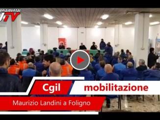 Sulla questione pensioni Cgil è mobilitazione intervista Maurizio Landini a Foligno