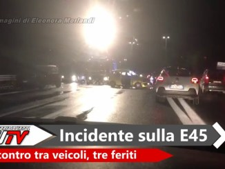 Incidente stradale sulla E45 all'altezza di Collestrada, tre persone ferite