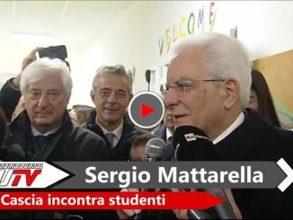 Presidente Mattarella ha incontrato i bambini di Cascia, il video della visita
