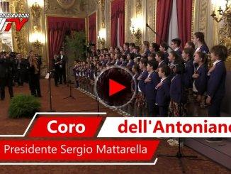 Il coro dell'Antoniano di Bologna canta per il Presidente Mattarella, video delle canzoni Zecchino d'Oro