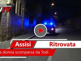 Donna di 50 anni scomparsa da Collevalenza di Todi ritrovata ad Assisi