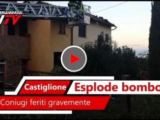 Esplode bombola di gas a Castiglione del Lago, coniugi feriti