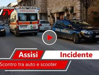Incidente a Santa Maria, scontro tra auto e scooter, una donna ferita