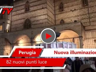 Nuovi punti luce a Perugia, il video di Piazza IV Novembre, rinviata passeggiata funambolo